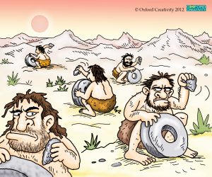 Not invented here - stone age cartoon by Oxford Creativity