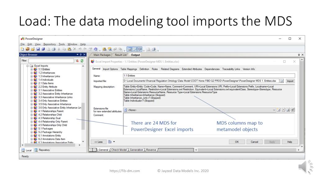 Ontology Data Model Transformation tutorial - Load into PowerDesigner