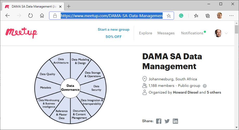Meetup DAMA SA Data Management