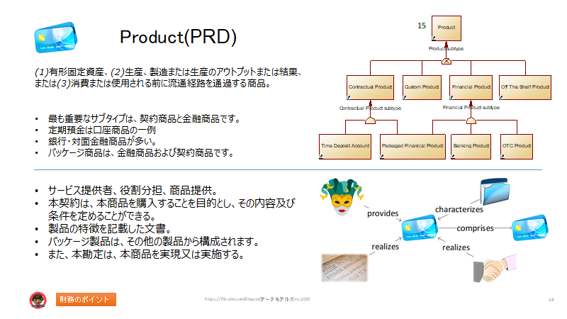 Semantics for Japanese Finance Users slide 28 - Product (PRD)