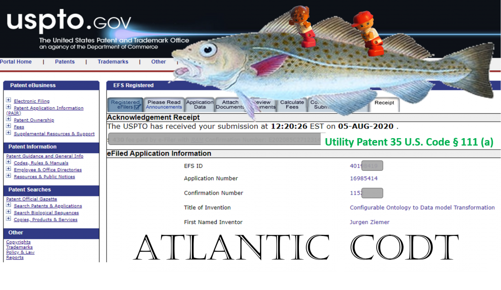 CODT Patent Filing USPTO Acknowledgement Receipt